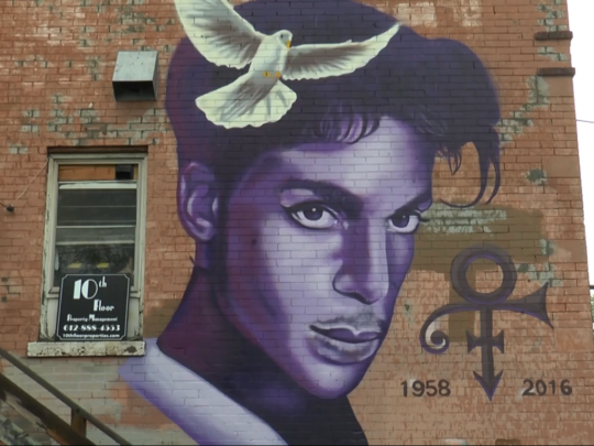 PRINCE MURAL IN MINNEAPOLIS